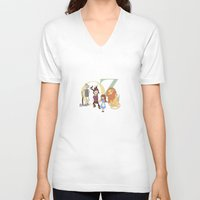 oz V-neck T-shirts featuring OZ by Little Moon Dance