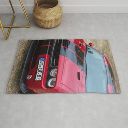 Red Challenger RT Hemi at the 5th US-Carshow, Germany color photograph / photography / poster Rug