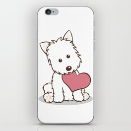 Westie Dog with Love Illustration iPhone Skin