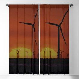 Windmills at Sunset  Blackout Curtain