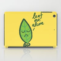 introvert iPad Cases featuring The introvert leaf by Picomodi