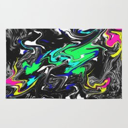 Glitch Swirly Marble Rug