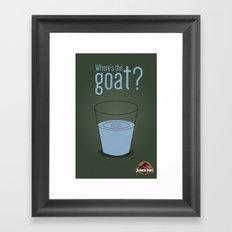 Jurassic Park  ¿Where's the goat? Framed Art Print