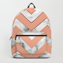 Marble background with gold details II Backpack