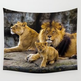 Lions Wall Tapestry