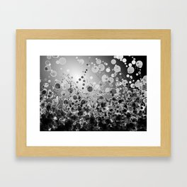 Black and White Spotted2-Grey Framed Art Print