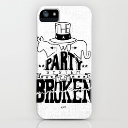 Two Party System iPhone Case