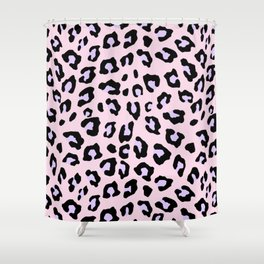Leopard Print - Lavender Blush Shower Curtain