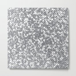 Sharkskin Pixels Metal Print