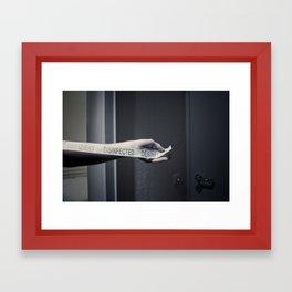 disinfected Framed Art Print