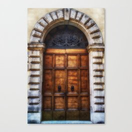 Romanesque, Roman Door, Italy Canvas Print