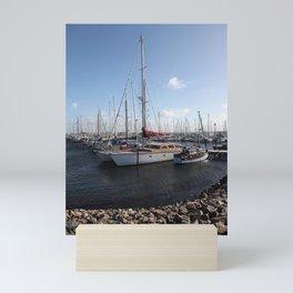 Sailboats at the Pier Mini Art Print