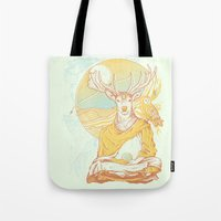 antlers Tote Bags featuring Antlers by Andrew Haines Art