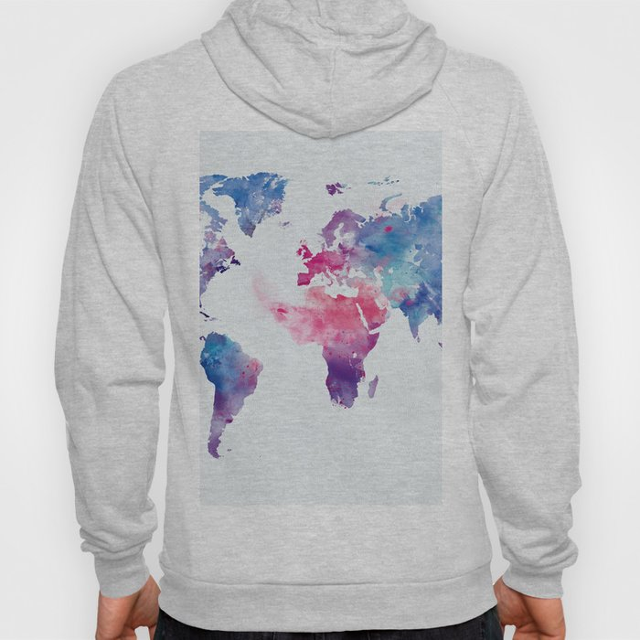 Map of the World Hoody