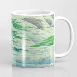 Kawase Hasui, Waterfall, Japanese Woodblock Print Ukiyo-e, Shin-hanga, Landscape Coffee Mug