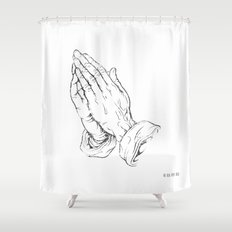 Pray. Shower Curtain