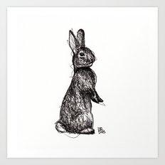 Woodland Creatures: Rabbit Art Print