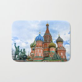 Saint Basil's Cathedral (Red Square in Moscow) Bath Mat