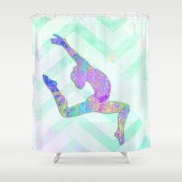 Gymnast Jump Shower Curtain