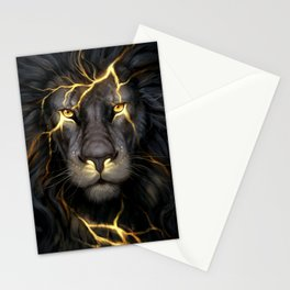 LION-GOLD-ART Stationery Cards