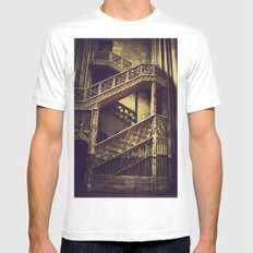 A Hogwarts Staircase Mens Fitted Tee MEDIUM White