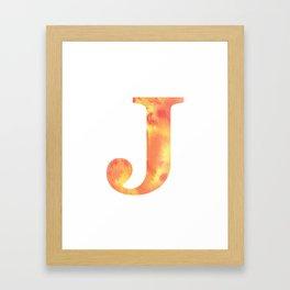 Letter J Art Work/ Alphabet Wall Hangings Framed Art Print