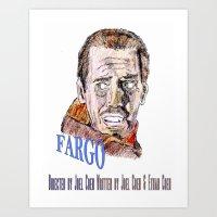 fargo Art Prints featuring Fargo by AdrockHoward