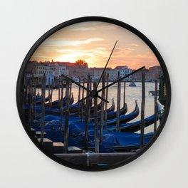 Venice at Dawn 3 Wall Clock