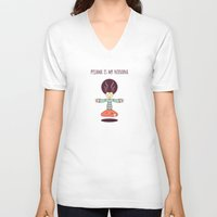 nirvana V-neck T-shirts featuring pyjama is my nirvana by freshinkstain
