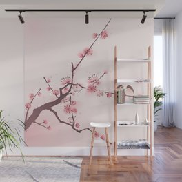 Oriental cherry blossom in spring 005 Wall Mural