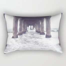 dreaming at the pier Rectangular Pillow