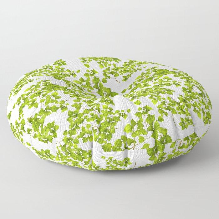 Green Leaf Art Floor Pillow