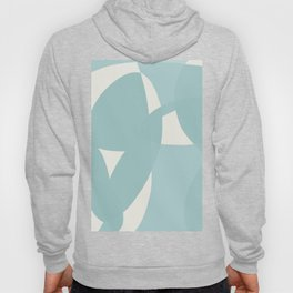 Abstract in dusty light blue and neutral shades Hoody