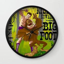 Legend vs Legend - Killer Kowalski vs. Big Foot Wall Clock