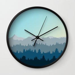 Face This Mountain (No Text) Wall Clock
