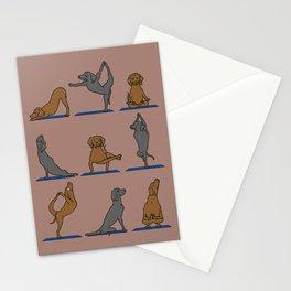 Vizsla Yoga Stationery Cards