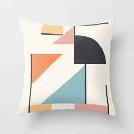 Clean Flow Geometry 3 Throw Pillow