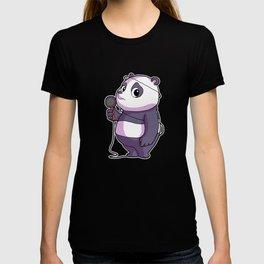 Panda Singer Musician Karaoke T-shirt