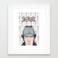 sherlock Framed Art Prints featuring Sherlock by enerjax