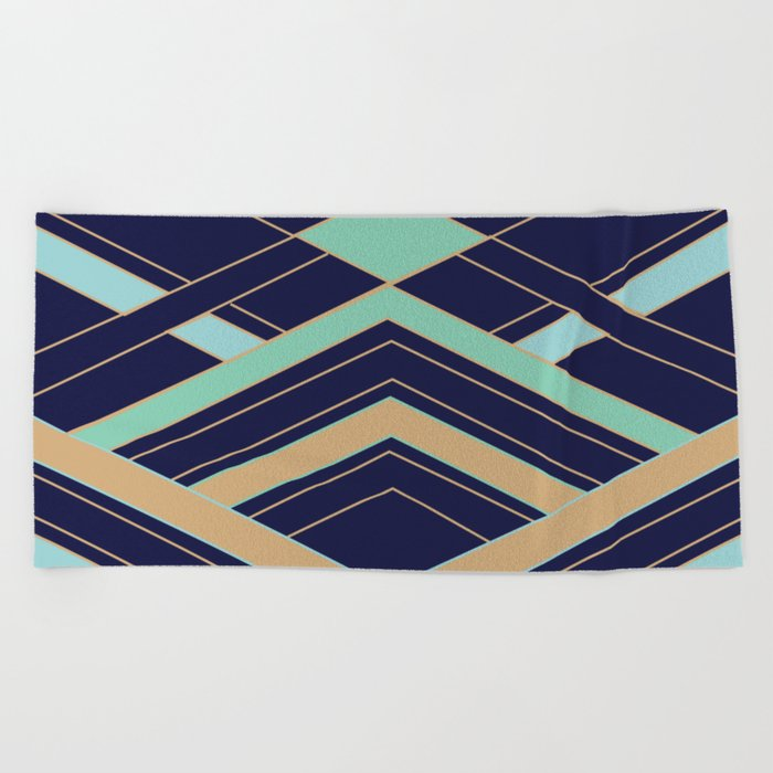 Art Deco Fast Beach Towel