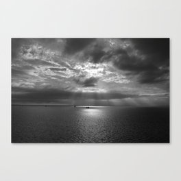 Cloudscape in black and white Canvas Print