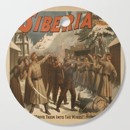 Vintage poster - The New Siberia Cutting Board