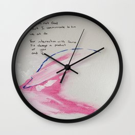 I'm Not God Wall Clock
