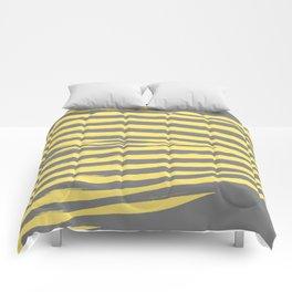 Yellow & Gray Stripes Comforters