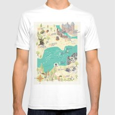 Princess Bride Discovery Map MEDIUM Mens Fitted Tee White