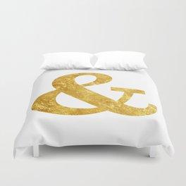 Gold Ampersand Duvet Cover