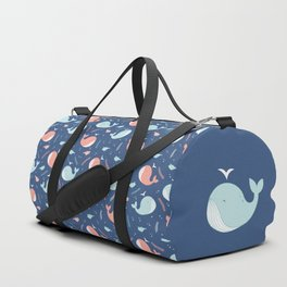 Sea whales pattern Duffle Bag
