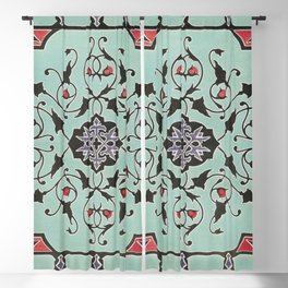 Ornamental cover of a colour box from the Industrial arts of the Nineteenth Century (1851-1853) by (1820-1877) Blackout Curtain