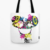 paramore Tote Bags featuring Deadmau5 by Sitchko Igor