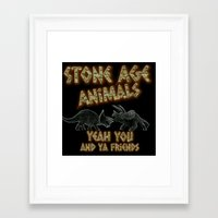 queens of the stone age Framed Art Prints featuring Stone age Animal by lilbudscorner